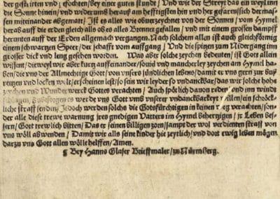 Phénomène céleste de Nuremberg - Hans Glaser 1561 (2)