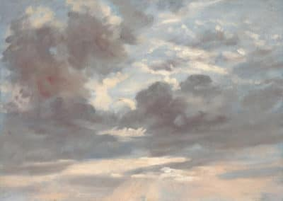 Cloud study stormy sunset - John Constable (1821)