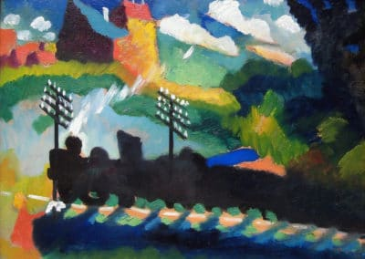Ferrovia a Murray - Wassily Kandinsky (1909)