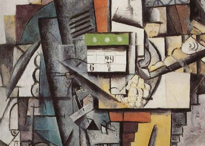 Lady on a tram station - Kazimir Malevich (1913)