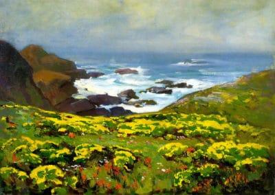 Morning mist, Monterey coast - Franz Bischoff (1899)