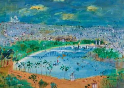 Vue de Paris - Jean Dufy (1958)