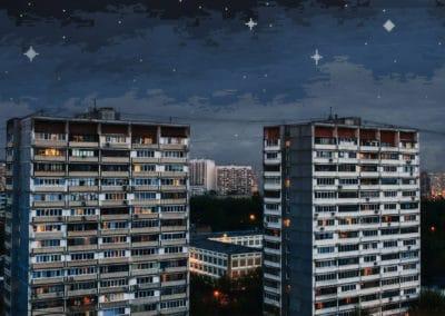 8-bit skies over Russia - Dmitry Shafroz (2025)