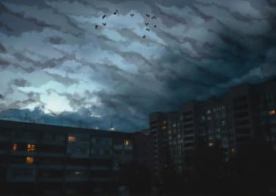 8-bit skies over Russia - Dmitry Shafroz (2037)