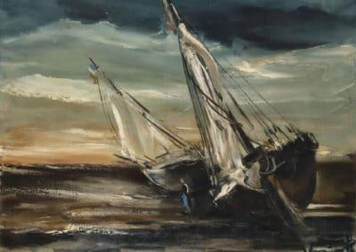 Barques échouées - Maurice de Vlaminck (1934)