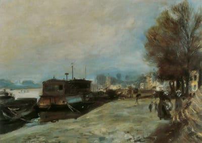 Bateau-lavoir sur la Seine - Pierre Auguste Renoir (1871)
