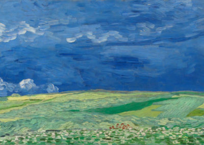 Champs de blés sous l'orage - Vincent van Gogh (1890)