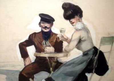 Couple drinking - Edward Hopper (1907)