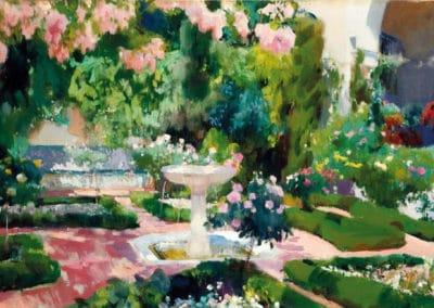 Jardin de la casa Sorolla - Joaquín Sorolla (1918)
