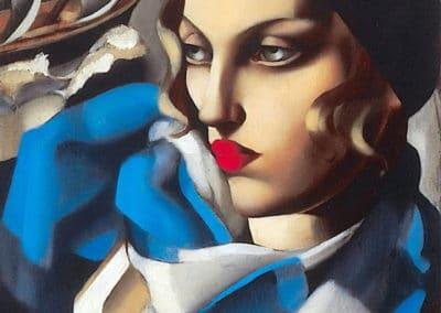 L'écharpe bleue - Tamara de Lempicka (1930)