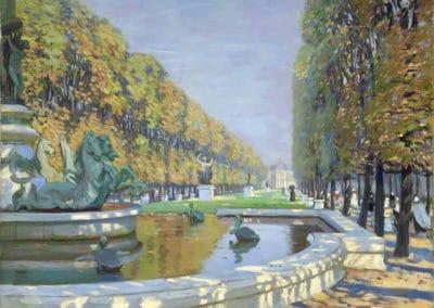 Le jardin du Luxembourg - Alice Maud Fanner (1901)