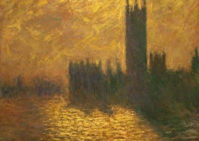 Le parlement de Londres, ciel orageux - Claude Monet (1904)