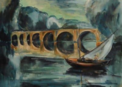 Pêcheurs près d'un pont - Maurice de Vlaminck (1912)