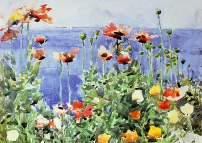 Poppies, isles of Shoals - Childe Hassam (1891)