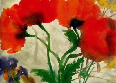 Red poppies - Emil Nolde (1927)