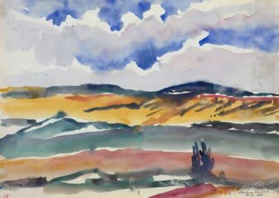 Scene from the train window - Martiros Sarian (1960)