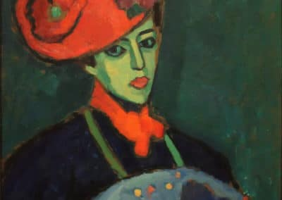 Schokko with red hat - Alexej von Jawlensky (1909)