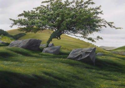 Spring hawthorn - Gerald Dewsbury (1997)
