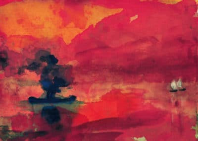 Sunset - Emil Nolde (1928)