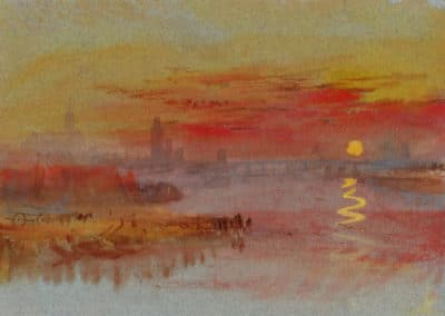 The Scarlet sunset - William Turner (1830)
