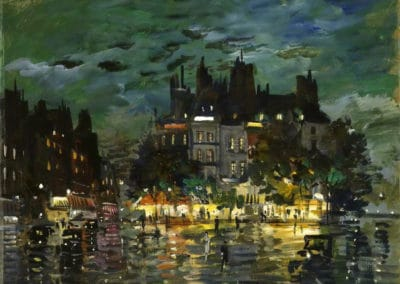 View of Paris by night - Konstantin Korovin (1923)