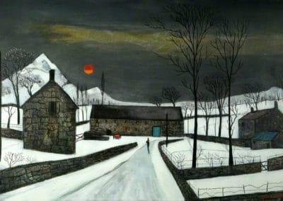 Welsh farm - Fred Uhlman (1979)