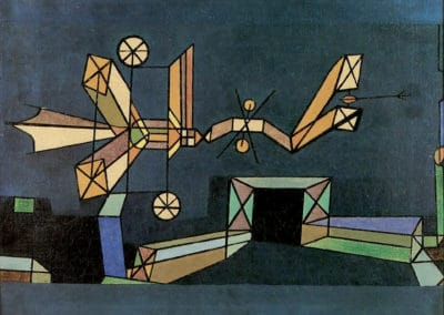 Arrival of the air dragon - Paul Klee (1929)