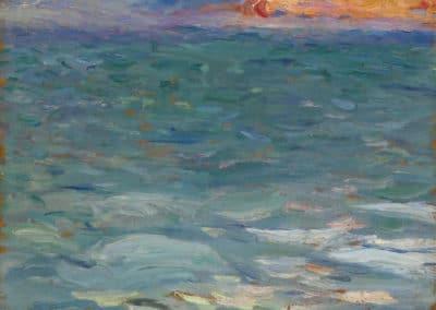 Bord de mer au coucher du soleil - Henri Martin (1920)