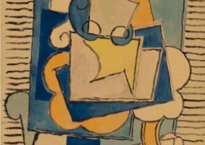 Femme dans un fauteuil - Pablo Picasso (1918)