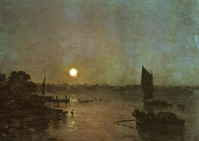 Moonlight, a study at Millbank - William Turner (1797)