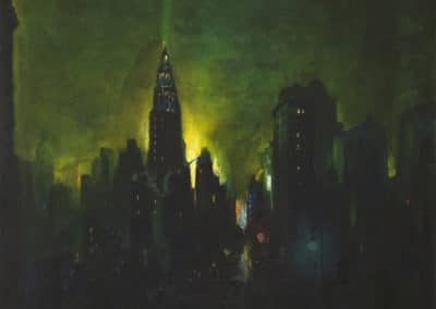 New York nocturne - Leon Dolice (1930)