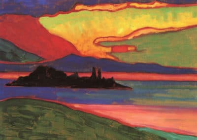 Sunset over Staffelsee - Gabriele Münter (1908)