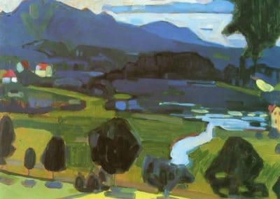 Vue de Staffelsee - Wassily Kandinsky (1908)