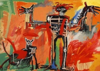 Boy and dog in a Johnnypump - Jean-Michel Basquiat (1982)