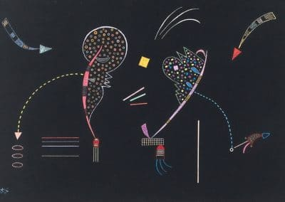 Deux cotes - Wassily Kandinsky (1936)