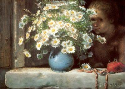 Le bouquet de marguerites - Jean-François Millet (1866)
