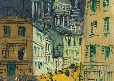 Montmartre, rue Norvins - Jean Dufy (1955)