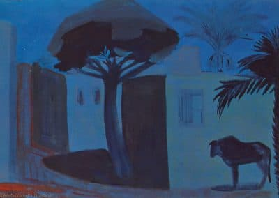 Night landscape. Egypt - Martiros Saryan (1911)