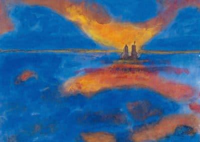 Red clouds - Emil Nolde (1951)