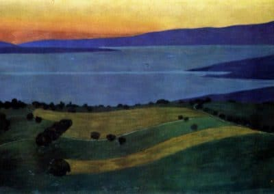The Lake Leman, effect of the evening - Felix Vallotton (1919)