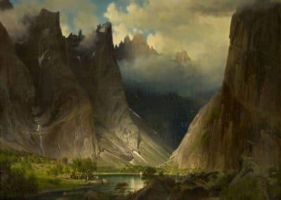 Valley of Romsdalen - Johan Fredrik Eckersberg (1857)