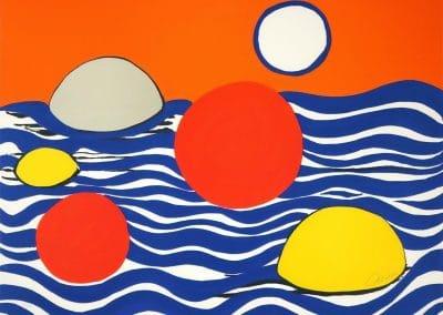 Circles and Waves - Alexander Calder (1970)