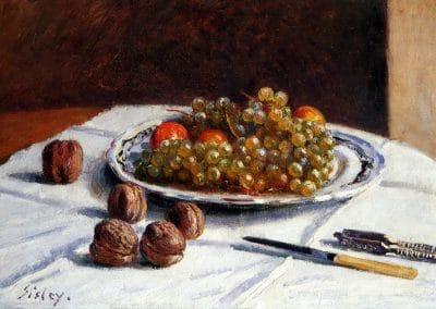 Grapes and walnuts - Alfred Sisley (1876)