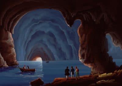 Grotta Blu' a Capri - vue de la grotte bleue