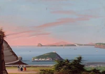 I Bagnoli - vue générale de la baie de Naples depuis le quartier du bagne