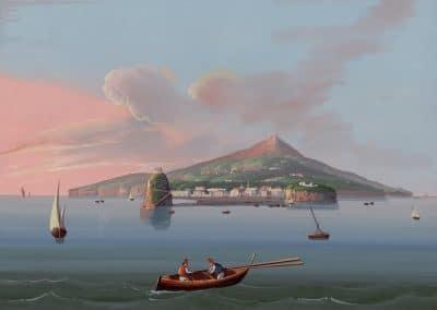 Ischia - vue générale depuis la mer