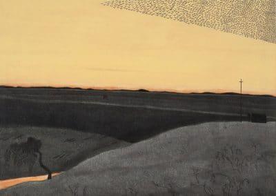 L'ermite dans le désert, vol d'oiseaux - Léon Spillaert (1915)