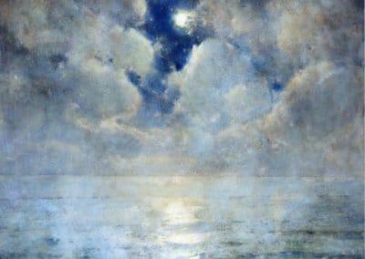 Moonlight scene - Emil Carlsen (1913)