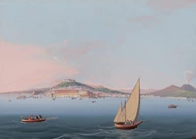 Napoli da Mare - vue générale de Naples depuis la mer