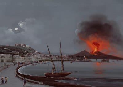 Napoli da Posilippo - vue générale de Naples depuis la quartier de Posilippo